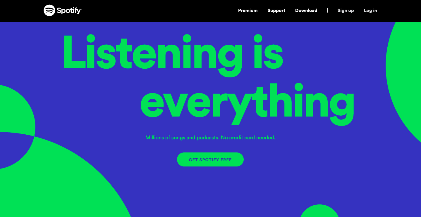 Tips to design better CTA button - Spotify example