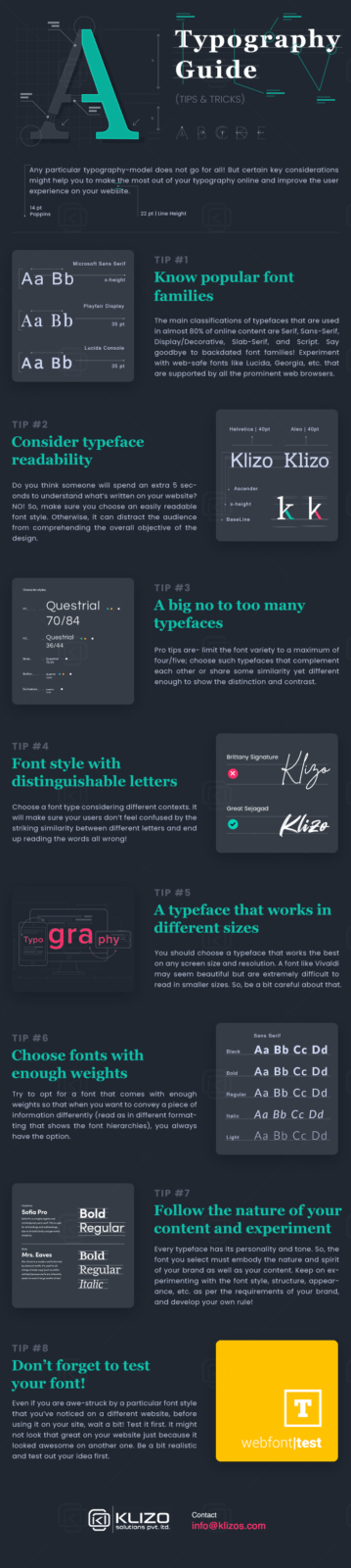 Typography guide - INFOGRAPHIC