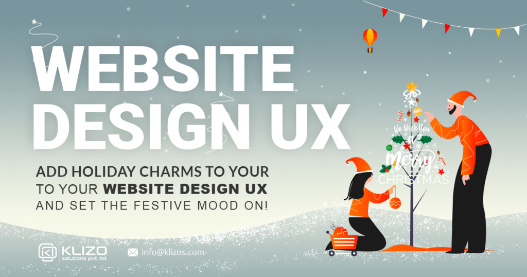 holiday web design ux banner image
