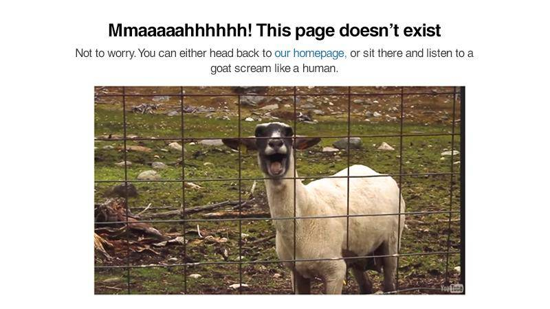 humor in ux design - this page does not exist