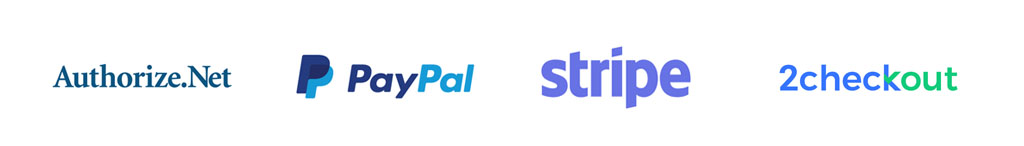 payment processor integration authorize.net stripe paypal 2checkout